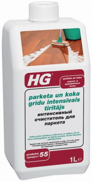 HG Parketa un koka grīdu intensīvais tīrītājs 1L