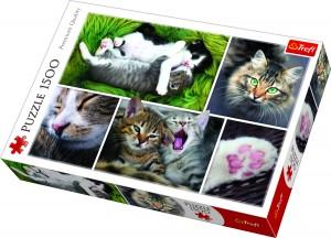 """Trefl Puzle """"Kaķi"""", 1500 gab."""
