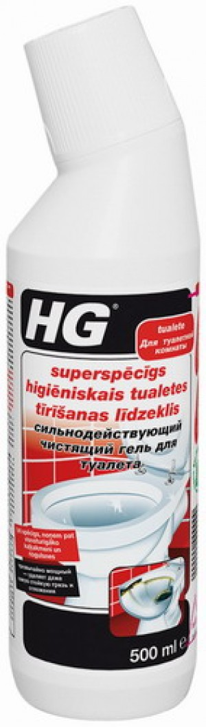 HG Superspēcīgs higienisks tualetes tīrīšanas līdz