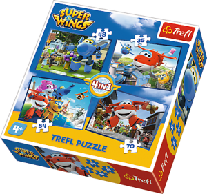 "TREFL Puzle 35+48+54+70 ""Super Wings"""