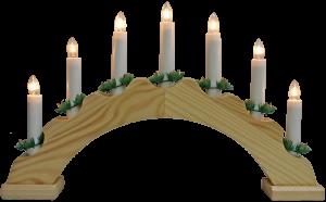 Adventes svečturis koka pusapaļš