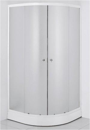 Duškabīne ar stikla durvīm 900x900x1950mm, 4mm