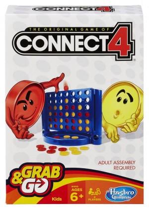 Hasbro Spēle Savieno 4 (Connect 4), ceļojumu formāts
