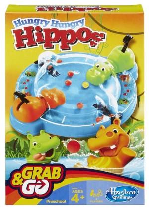 Hasbro Spēle HUNGRY HIPPO, ceļojumu formāts