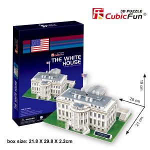 CubicFun 3D puzle Baltais Nams, ASV