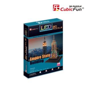 """CubicFun LED 3D puzle Ņujorkas debesskrāpis """"Empire State Building"""""""