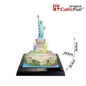 CubicFun LED 3D puzle Brīvības statuja