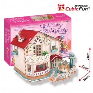 CubicFun 3D Leļļu māja Holiday Bungalow