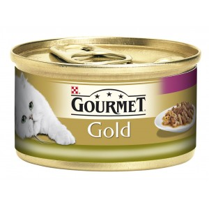 GOURMET GOLD kaķu konservs DUO (trusis, aknas) 85g