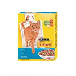 FRISKIES kaķu sausā barība (lasis,tuncis,dārzeņi) 300g