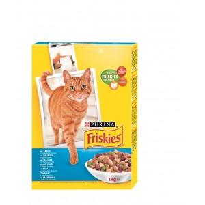 FRISKIES kaķu sausā barība (lasis,tuncis,dārzeņi) 1kg