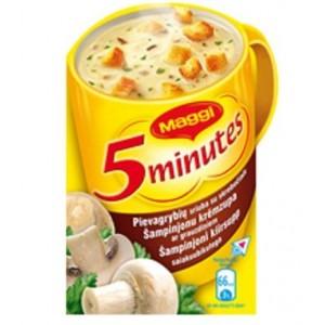 MAGGI šķīstošā Šampinjonu zupa ar grauzdiņiem, 14g