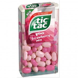 TIC TAC STRAWBERRY MIX dražejas 49g