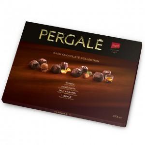 PERGALE kārba ar tumšās šokolādes konfektēm 373g