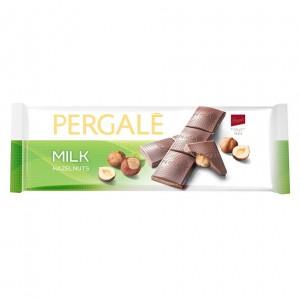 PERGALE piena šokolāde ar lazdu riekstiem 250g