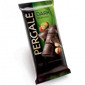 PERGALE tumšā šokolāde ar lazdu riekstiem 100g