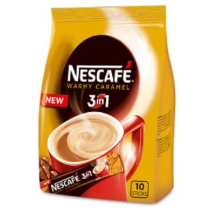 NESCAFE CARAMEL kafijas dzēriens 3in1 (paka), 10x16g