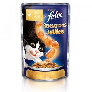 FELIX Sensations kaķu konservs (vista un burkāni) 100g