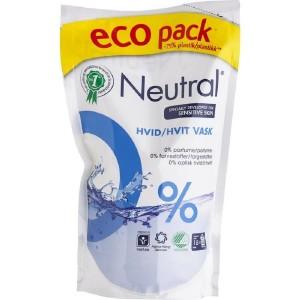 NEUTRAL veļas mazgāšanas līdzeklis WHITE REFILL, 0.9l