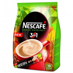 NESCAFE Šokolādes riekstu kafijas dzēriens 3in1, 10x16g