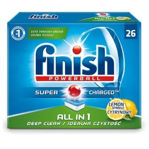 FINISH ALL in 1 Lemon tabletes trauku mazgāšanas automātiem 26gab