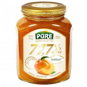PŪRE augļu produkts - Aprikozes 77,7% ogu smēriņš, 410g