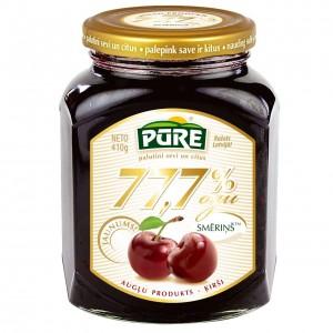 PŪRE augļu produkts - Ķirši 77,7% ogu smēriņš, 410g