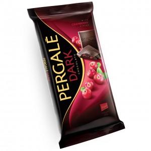 PERGALE tumšā šokolāde ar dzērvenēm 93g