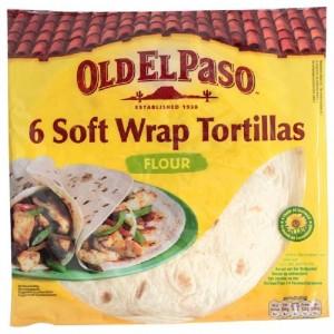 OLD EL PASO mīkstās kviešu tortillas plāksnes, 350g