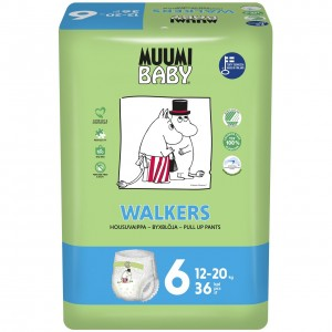 MUUMI WALKER JUNIOR autiņbiksītes 12-20kg, 36gb