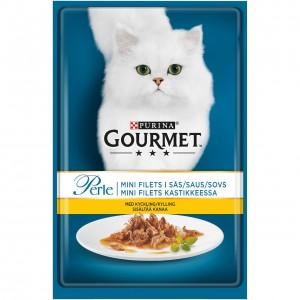 GOURMET PERLE kaķu konservs gaļas gabaliņi mērcē (vista) 85g