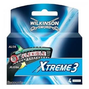 WILKINSON Xtreme3 Flex Kārtridžs 4 gab