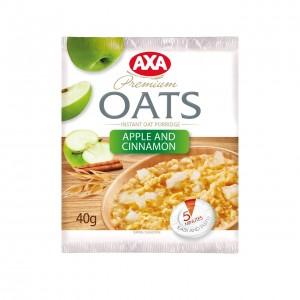 AXA Ātri pagatavojamā auzu pārslu putra ar ābolu un kanēli, 40g