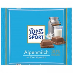 RITTER SPORT piena šokolāde Alpine, 100g