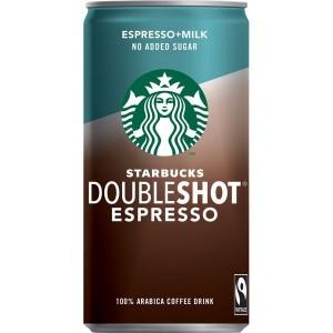 STARBUCKS piena-kafijas dzēriens Doubleshot espresso bez cukura, 200ml