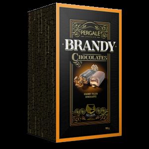 PERGALE šokolādes konfektes ar brendiju, 190g
