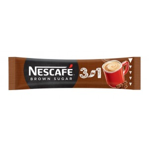 NESCAFE Brown Sugar 3in1 šķīstošā kafija 16.5g