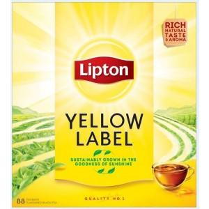 LIPTON YELLOW LABEL melnā tēja 88TB