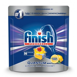 FINISH Quantum tabletes trauku mazgāšanas automātiem Lemon, 36gab