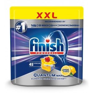 FINISH Quantum tabletes trauku mazgāšanas automātiem Lemon, 45gab