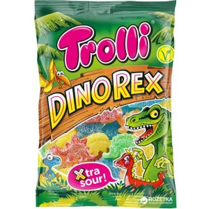 TROLLI želejkonfektes Dinorex, 100g