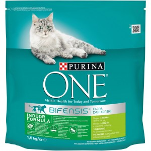 ONE kaķu sausā barība MĀJAS KAĶIEM (tītars) 1.5kg