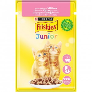 FRISKIES konservs kaķiem JUNIOR (vista) 85g
