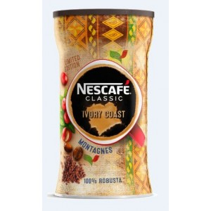 NESCAFE CLASSIC Ivory šķīstošā kafija metāla kārbā, 90g