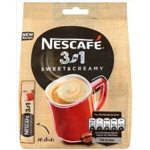 NESCAFE Sweet&Creamy 3in1 šķīstošā kafija (10x17g), 170g