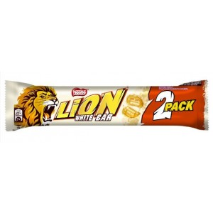 LION WHITE 2 Pack šokolādes batoniņš 60g