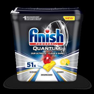 FINISH Quantum Ultimate Lemon tabletes trauku mazgāšanas automātiem 51gab