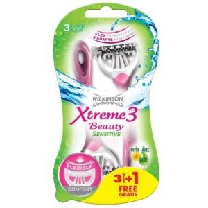 WILKINSON SWORD Xtreme3 Beauty Sensitive, 3+1gab