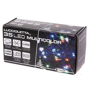35 LED virtene krāsaina