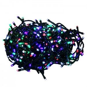 500 LED diožu virtene 25m krāsaina